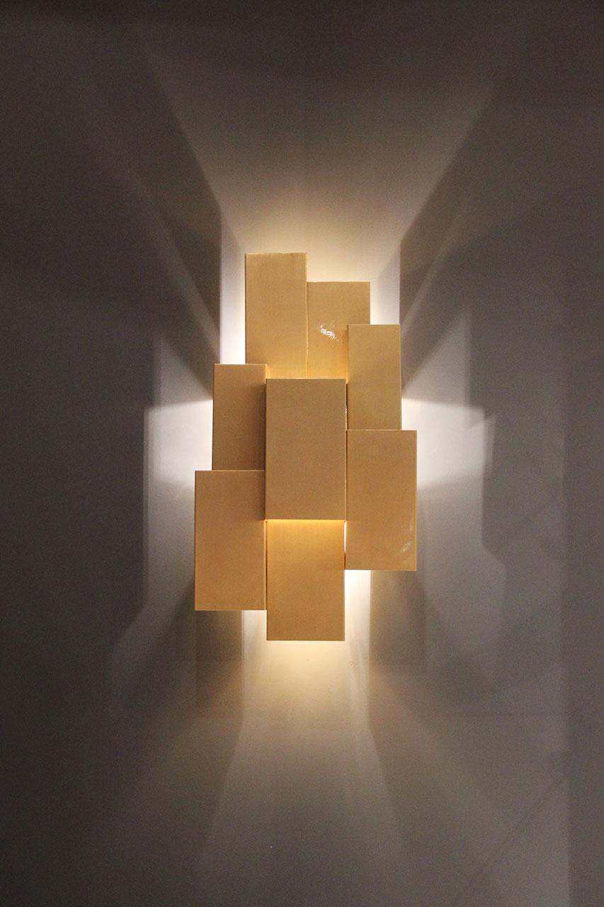 INSIDHERLAND Ambiences Inspiring Trees wall lamp brushed brass