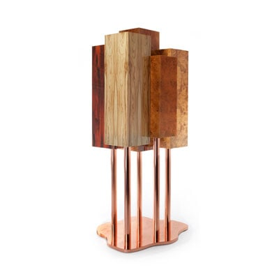 The Special Tree cabinet InsidherLand exotic roots natural wood copper award-winning designer trienalle milan piece of art elle decor ad architectural digest statement luxury unique furniture home decor living dining room casegoods storage