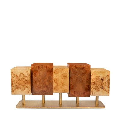 The Special Tree sideboard InsidherLand exotic roots natural wood brass award-winning designer trienalle milan piece of art elle decor ad architectural digest statement luxury unique furniture home decor dining room casegoods storage