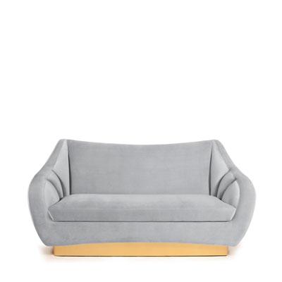 Figueroa 2 seat sofa InsidherLand lounge sofa velvet brass art deco contemporary unique luxury seating upholstery