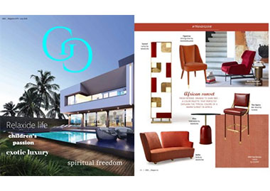 INSIDHERLAND collection FIGUEROA DINING CHAIR TREE BRANCHES BENCH SEATING luxury furniture design press clipping G&G magazine
