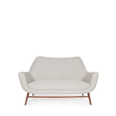 Western 2 seat sofa InsidherLand walnut wood lounge sofa modern unique contemporary storyteller design seating upholstery