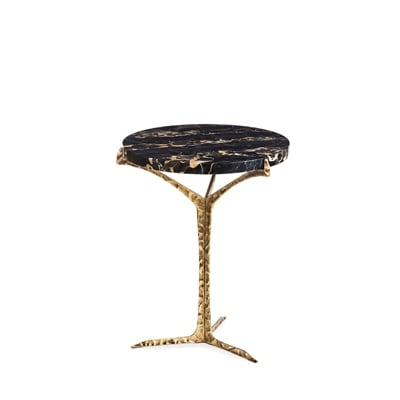 Alentejo side table InsidherLand acrylic estremoz portoro marble cast brass patina art piece exquisite unique best seller nature modern sculptural organic forms furniture home decor living room bedroom contract hotel