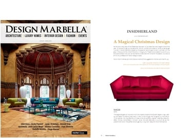 INSIDHERLAND collection luxury furniture design decor interiors press clipping design marbella spain christmas
