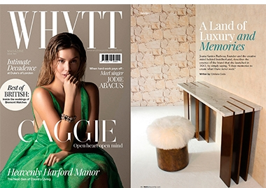 INSIDHERLAND collection luxury furniture design decor interiors press clipping whytt magazine joana santos barbosa jsb