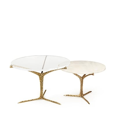 Alentejo coffee tables InsidherLand acrylic estremoz marble cast brass patina art piece exquisite unique best seller nature modern sculptural organic forms furniture home decor living room bedroom contract hotel