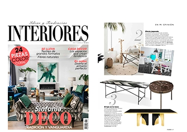 INSIDHERLAND collection luxury furniture design decor interiors press clipping magazines interiores spain utopia dining table