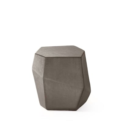 Rock stool InsidherLand velvet bench unique modern contemporary design complement seating upholstery