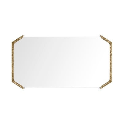 Alentejo rectangular mirror InsidherLand cast brass patina nature inspiration modern wall art gallery sculpture best seller luxury design accessories home decor