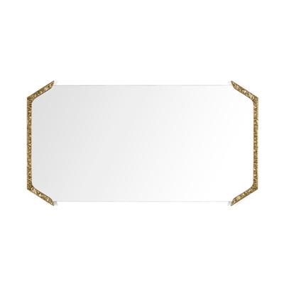 Alentejo rectangular mirror InsidherLand cast brass patina nature inspiration modern wall art gallery sculpture best seller luxury design accessories home decor