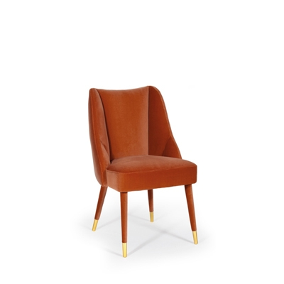 Figueroa dining chair InsidherLand velvet brass art deco contemporary unique luxury seating upholstery furniture home decor dining room