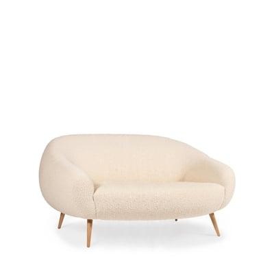 Niemeyer sofa InsidherLand bouclé oak round sofa modern modernist contemporary unique luxury best seller iconic seating upholstery