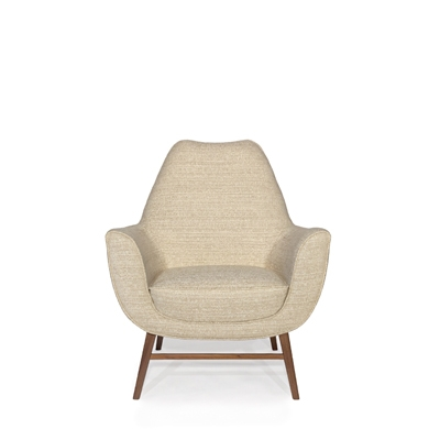 Western armchair InsidherLand walnut wood lounge chair modern unique contemporary storyteller design seating upholstery