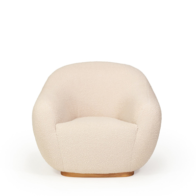 Niemeyer II armchair InsidherLand bouclé round lounge chair modern modernist contemporary unique luxury best seller iconic seating upholstery