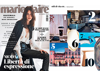 MARIE CLAIRE ITALIA ARIZONA MIRROR InsidherLand collection luxury furniture design decor interiors press clipping magazines joana santos barbosa elle decor france italia ad architectural digest usa spain
