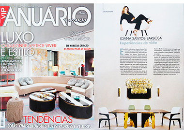 VIP Anuario de decoraçao portugal joana santos barbosa creative director InsidherLand collection luxury furniture design decor interiors press clipping magazines joana santos barbosa elle decor france italia ad architectural digest usa spain