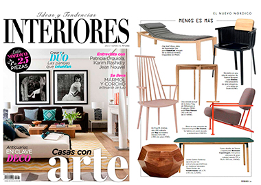 Interiors spain three rocks tales walnut InsidherLand collection luxury furniture design decor interiors press clipping magazines joana santos barbosa elle decor france italia ad architectural digest usa spain