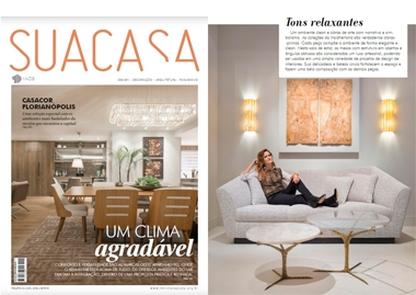 Sua Casa Brazil Niemeyer II Armchair & Seagram Wall Lamp InsidherLand collection luxury furniture design decor interiors press clipping magazines joana santos barbosa