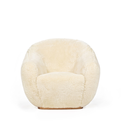 Niemeyer II fur armchair InsidherLand round lounge chair modern modernist contemporary unique luxury best seller iconic seating upholstery