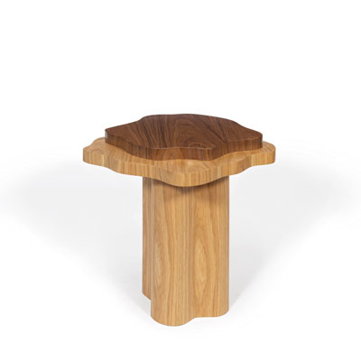 Arizona side table InsidherLand walnut oak unique artistic design