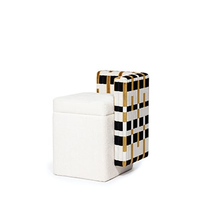 Not a Cube geometric stool minimalist minimal Donald judd Art square versatile seating accessory contemporary comfortable bench ottoman modern seat chair bar restaurant living room architectural material seating upholstery