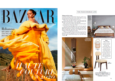 Harper Bazaar Vietnam Silhouette Dining Chair seating lighting boucle chair stool InsidherLand collection luxury furniture exclusive design decor decoration interiors press clipping magazines joana santos barbosa portuguese residential hospitality contract hotel yacht commercial high end award winnig exclusive new designs