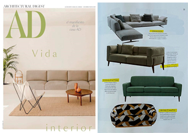 AD Spain Niemeyer II 2 Seat Sofa seating lighting boucle chair stool InsidherLand collection luxury furniture exclusive design decor decoration interiors press clipping magazines joana santos barbosa portuguese residential hospitality contract hotel yacht commercial high end award winnig exclusive new designs ottoman office desk work books