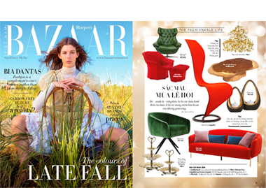 Harper´´´´´ s Bazaar Arizona Coffee Table seating lighting boucle chair stool InsidherLand collection luxury furniture exclusive design decor decoration interiors press clipping magazines joana santos barbosa portuguese residential hospitality contract hotel yacht commercial high end award winnig exclusive new designs ottoman