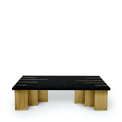 Pianist coffee table InsidherLand estremoz marble nero marquina marble calacata marble brass luxury center table unique design modern elegant geometric gallery exquisite sculptural minimalist contemporary modern award furniture home decor living room
