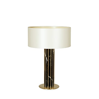 Seagram table lamp InsidherLand nero marquina marble brass sconce mies van der rohe lighting modern modernist luxury minimalist sculptural high end distinctive architectural exclusive award-winning residential hotels European designer