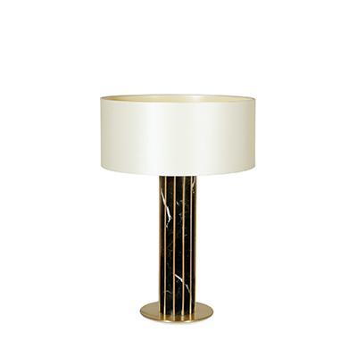 Seagram table lamp InsidherLand nero marquina marble brass sconce mies van der rohe lighting modern modernist luxury minimalist sculptural high end distinctive architectural exclusive award-winning residential hotels European designer